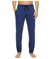 Hanro Harvey Long Knit Pants Jogger Deep Cobalt Men's Pajama Blue