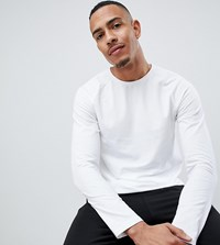 Burton Menswear Tall Muscle Fit Long Sleeve Top In White