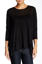 Bb Dakota Elyse Linen Tee Black