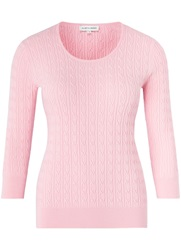 Austin Reed Cable Knit Jumper Pink