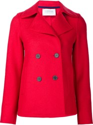 Harris Wharf London Short Peacoat Red