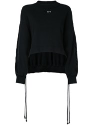 Off White Gathered Back Jumper Women Cotton Xs Black