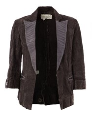 Greg Lauren Cropped Sleeves Blazer Grey