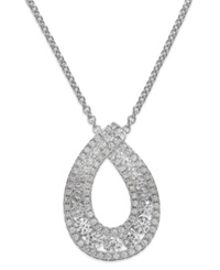 Arabella Swarovski Zirconia Pendant Necklace In Sterling Silver 1 1 4 Ct. T.W.