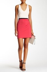 Bobiblack Colorblock Cutout Mini Dress Multi