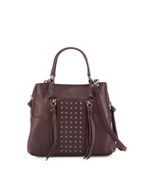 Kooba Everette Mini Leather Crossbody Bag Dark Purple