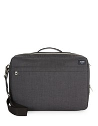 Jack Spade Textured Convertable Briefcase Charcoal