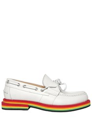 N3m Noitremilano Rainbow Sole Nubuck Leather Loafers