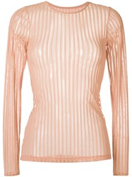 Giuliana Romanno Ribbed Top Rose