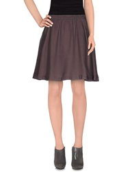 Selected Femme Knee Length Skirts Dark Brown