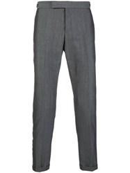 Thom Browne Selvedge Stripe Skinny Fit Trouser Grey
