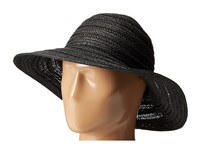 San Diego Hat Company Pbl3078 Four Buttons Paper Braid Floppy With Self Knotted Tie Black Traditional Hats