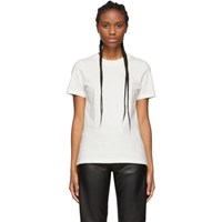 Acne Studios White Bla Konst Doe Badge T Shirt