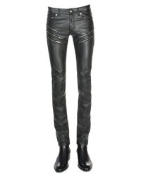 Saint Laurent Faux Leather Skinny Jeans Black