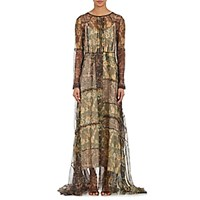 Gary Graham Women's Organza Maxi Dress Tan
