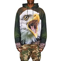 R 13 Bald Eagle Graphic Cotton Hoodie Multi