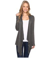 B Collection By Bobeau Pepper Knit Cardigan Charcoal Grey Women's Sweater Gray