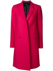 Paul Smith Ps By Tailored Midi Coat Pink And Purple