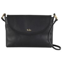 Tula Party Small Leather Across Body Flap Bag Black