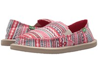 Sanuk Donna Blanket Raspberry Lanai Blanket Women's Slip On Shoes Multi