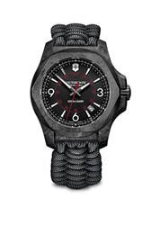 Victorinox I.N.O.X. Carbon Stainless Steel Paracord Strap Watch Black