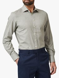 Chester Barrie By Herringbone Tailored Fit Shirt Grey