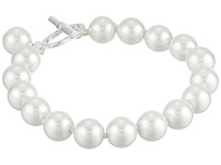 Lauren Ralph Lauren 8 10Mm Pearl With Ring And Toggle Silver White Pearl Necklace