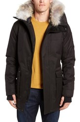 Nobis Yves Windproof And Waterproof 650 Fill Power Down Parka With Genuine Coyote Fur Trim Black