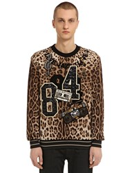 Dolce And Gabbana Leopard Brocade Sweatshirt W Patches