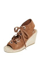 Ash Patty Lace Up Wedges Tan