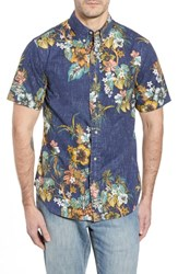 Reyn Spooner Pupas And Mai Tais Regular Fit Sport Shirt Blue