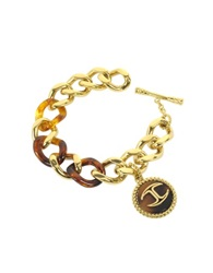 Just Cavalli Nature Golden Stainless Steel Women's Bracelet
