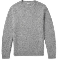 Cos Melange Alpaca Blend Sweater Gray