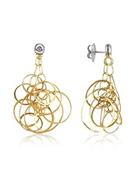 Orlando Orlandini Scintille Diamond 18K Gold Drop Earrings