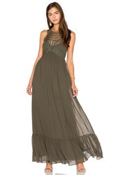 Twelfth St. By Cynthia Vincent Front Embellishment Maxi Dress Army