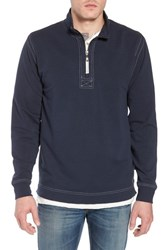 True Grit Quarter Zip Fleece Pullover Navy
