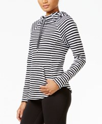 Tommy Hilfiger Sport Striped Pullover Hoodie A Macy's Exclusive Style Black Combo