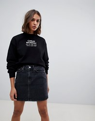 Cheap Monday Get Logo Sweatshirt Black