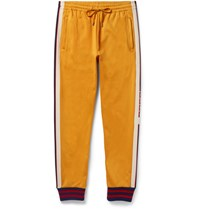 Gucci Striped Jersey Sweatpants Yellow