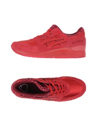 Asics Tiger Footwear Low Tops And Trainers Men Red