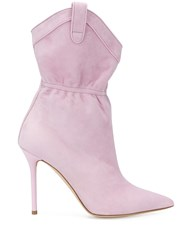 Malone Souliers Pointed Toe Boots Pink