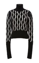 Holly Fulton Maggie Cable Knit Jumper Black