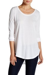 Abound Long Sleeve Basic Tee White