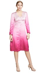 Lioness American Sweetheart Midi Dress Pink Ombre
