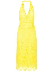 Marc Cain Lace Embroidered Midi Dress Yellow And Orange