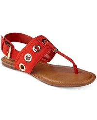 Tommy Hilfiger Lerry Flat Sandals Women's Shoes Red