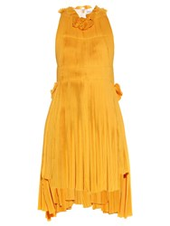 Sonia Rykiel Racer Back Pleated Dress