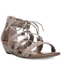 Carlos By Carlos Santana Kenzie Lace Up Gladiator Sandals Women's Shoes Soft Taupe