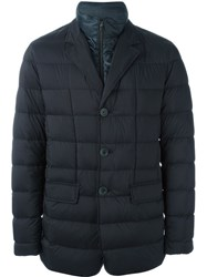 Herno Single Breasted Jacket Blue