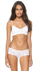 Eberjey India Lace Retro Bralette White